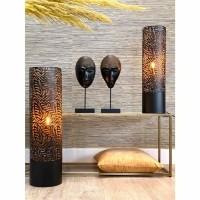 ROYAN lamp - Metaal - Bruin & Goud - Groot