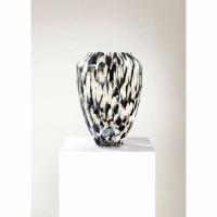 OYSTER OPAL vaas - Glas - Wit & Zwart