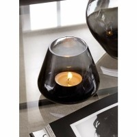 NOBLE GREY waxinelicht - Glas - Grijs