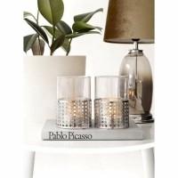 MOANA waxinelichten - Glas & Metaal - Zilver - 1 stuk