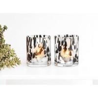 OYSTER kaarshouders - Glas - Wit & Zwart - 1 stuk