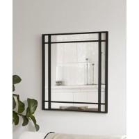 LEIGHTON spiegel - Metaal & Spiegelglas - Zwart