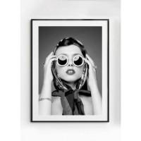 MAYA poster - Gedrukt papier - Zwart & Wit - 50x70 cm