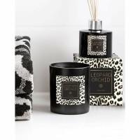 LEOPARD geurkaars - Wax & Glas - Zwart & Leopard print