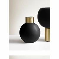 ORION vaas - Keramiek - Zwart & Goud