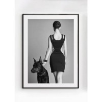 MICHELLE poster – Gedrukt papier – Zwart & Wit – 30×40 cm