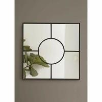 HYPNOSE spiegel - Metaal & Spiegelglas - Zwart