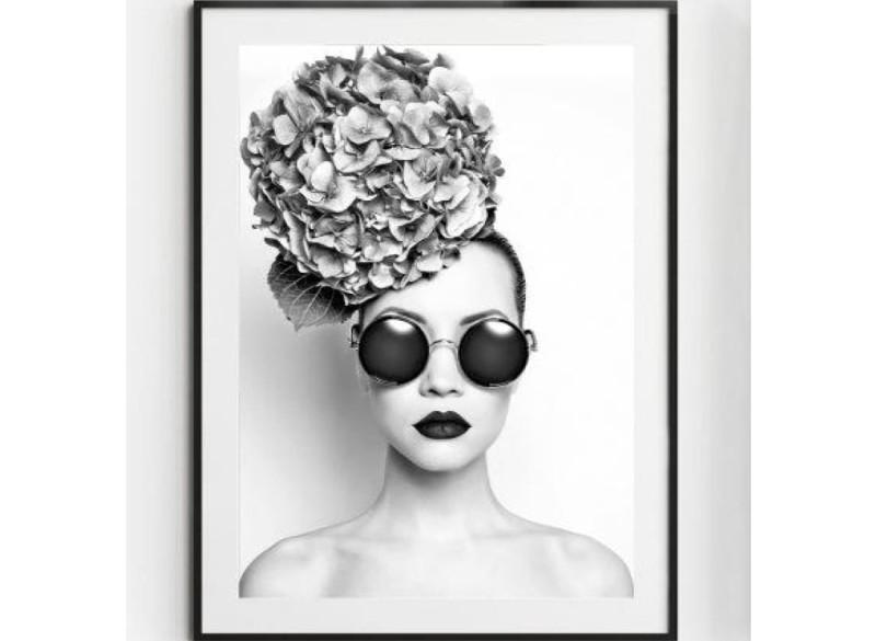 ROSA poster – Gedrukt papier – Zwart & Wit – 50×70 cm