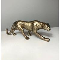 GOLDEN LEOPARD beeld - Polystone - Antik Gold