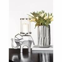 INDIRA kandelaar - Metaal & Glas - Zilver