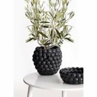 HONEY vaas/pot - Geglazuurd keramiek - Zwart