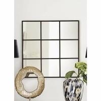 INTENSE spiegel - Metaal & Spiegelglas - Zwart
