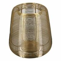 LUCO windlicht - Metaal & Glas - Goud - Groot