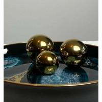 GOLDEN THREE ballen - Keramiek - Goud - Set van 3 st.