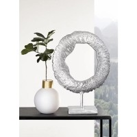CERCLE ornament - Metaal - Zilver