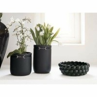 CAMARILLO pot - Keramiek - Mat zwart - Klein