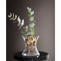 BLOOM vaas - Metaal & Glas - Goud - Incl. bal