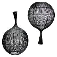 Bohemian Natuurlijke Lampenkap - The Wonton Floor Lamp Pend…