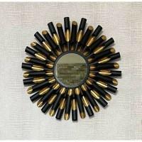 BLACK LION spiegel - Metaal & Spiegelglas - Zwart & Goud