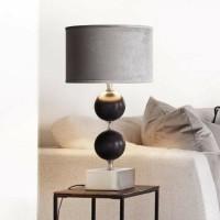 DEKOTA SILVER lampenvoet - Zwart & Zilver - Polystone