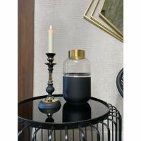 ARANDA kandelaar - Metaal - Zwart & Goud
