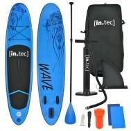 Opblaasbaar SUP board met accessoires blauw met patroon