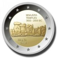 Malta 2 Euro 2018 Mnajdra Tempels met F in Ster
