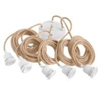 Fitting met snoer - Fitting Lamps Ceiling Natural White 5 F…