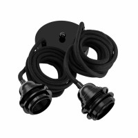Fitting met snoer - Fitting Lamps Ceiling Black 2 Fittings