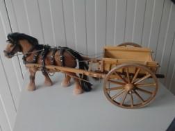 Boerenkar met Paard Schaal 1:8 Modelbouw Nieuw