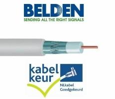 Belden H125D00 coax DuoBond+ wit