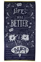 KAAT Beach Life Blue 100x180