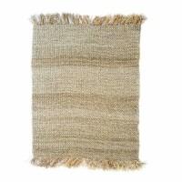 Bohemian vloerkleed naturel - The Fringed Carpet - naturel…