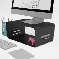 Dataflex Addit Bento monitorverhoger - Zwart