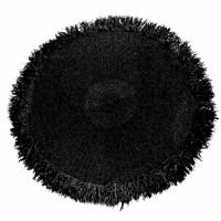 Bohemian rond vloerkleed - The Fringed Carpet - zwart - 150