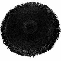 Bohemian rond vloerkleed - The Fringed Carpet - zwart - 200