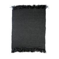 Bohemian vloerkleed - The Fringed Carpet - zwart - 300x200