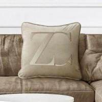 ZC kussenhoes – Velvet & 100% Katoen– Beige – 50×50
