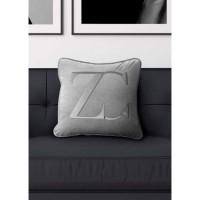 ZC kussenhoes – Velvet & 100% Katoen – Grijs/ Zilver – 50×5…