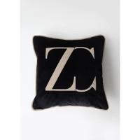 ZC kussenhoes - Velvet - Zwart & Beige - 50x50