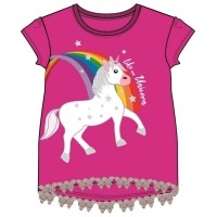 Unicorn Fuchsia - Donkerroze Shirt Unicorn donkerroze shirt…