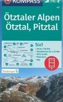 Wandelkaart 43 Ötztaler Alpen, Ötztal, Pitztal Kompass