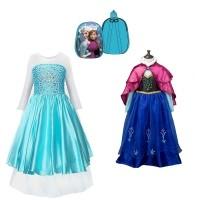 Frozen Anna en Elsa jurk + gratis Frozen pluchen rugzak 150…