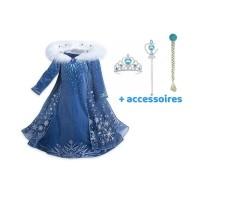 Frozen 2 Elsa jurk + Frozen Elsa vlecht, staf en kroon Labe…
