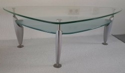 Luxe design salontafel / grote bijzettafel. 125x69cm. 2laag…
