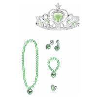 Prinsessen accessoireset  5-delig Kroon + juwelen groen
