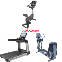 Life fitness cardio set   loopband   crosstrainer   fiets  