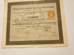 aandeel nederlandsch indische spoorweg maatschappij 09-03-1…