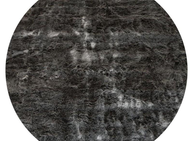 Vloerkleed Donsie Antraciet Rond ø160 cm