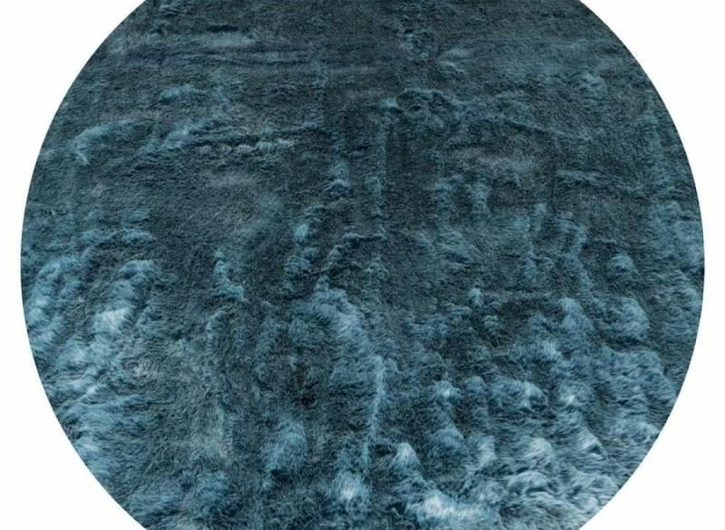 Vloerkleed Donsie Blue Rond ø160 cm